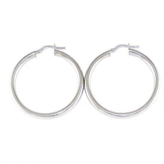 Sterling silver earrings ring platinum 4312