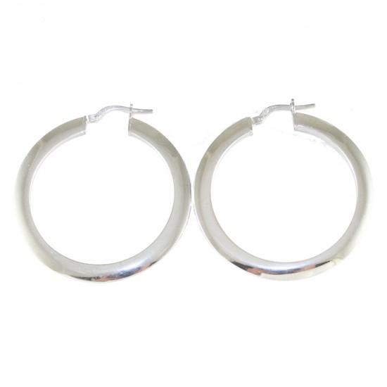 Sterling silver earrings ring platinum  4011