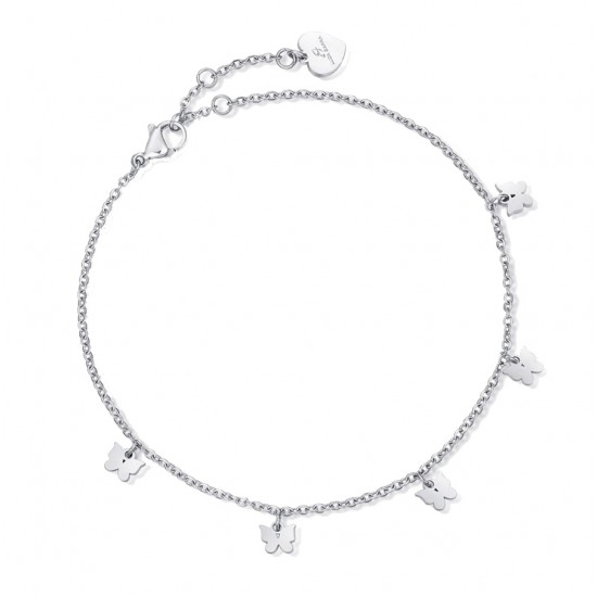 Stainless steel foot chain with butterflies CV113