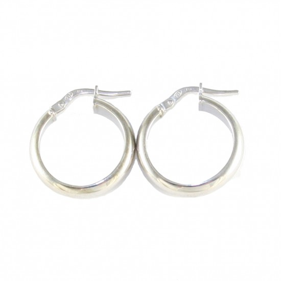 Sterling silver earrings ring platinum 2055