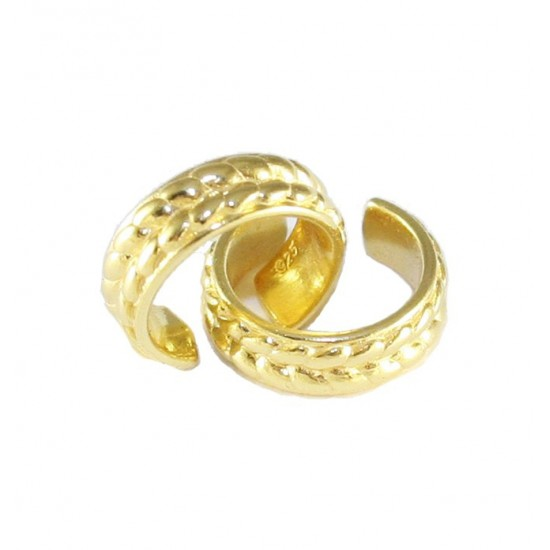 Earrings silver rings gold plated  8118007