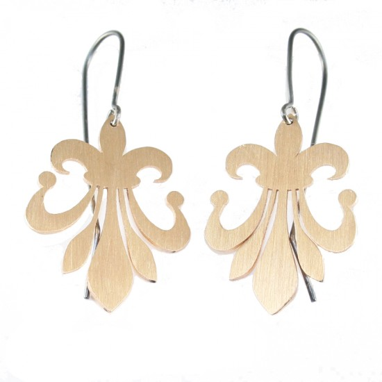 Silver earrings handmade and goldplated