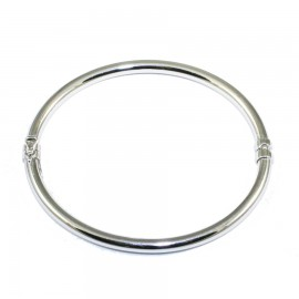 Bracelet silver bar in oval shape polished 81325