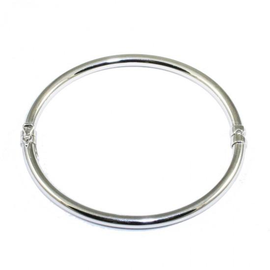 Bracelet silver bar in oval shape polished 81325