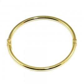 Silver bar bracelet in oval shape polished and gold plated 91027