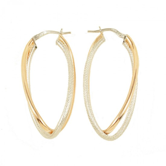 Earrings silver rings two-color platinum rose gold plated  59024