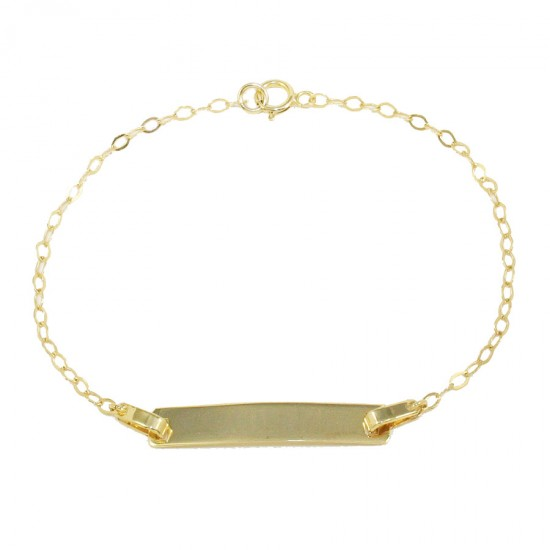 Children's bracelet gold K9 for christening 11586