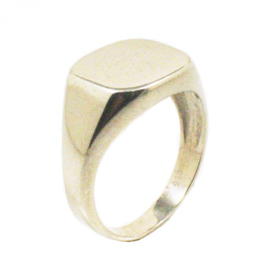 Sterling silver chevalier ring polished for men 37717