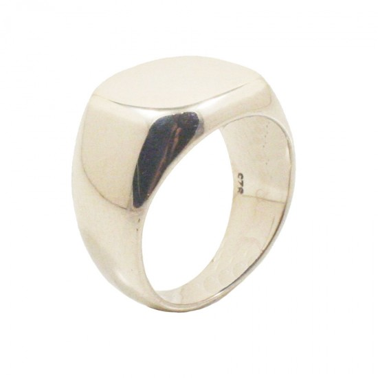 Sterling silver chevalier ring polished for men 693312