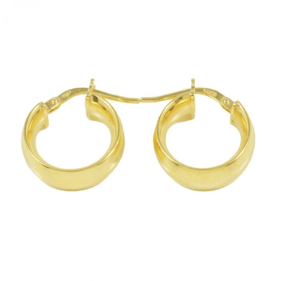 Sterling silver earrings rings gold plated and polished  2207