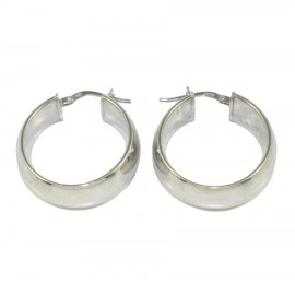 Earrings sterling silver rings polished 61219