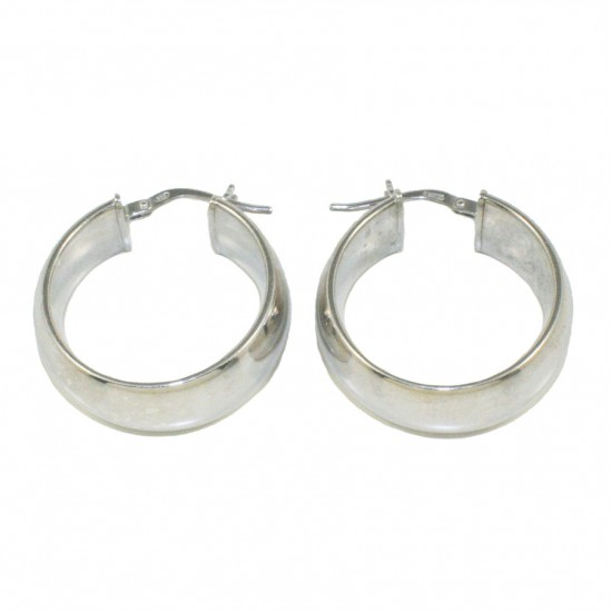 Earrings sterling silver rings polished  61219