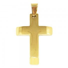 Stainless steel Cross for men in gold color SP1248