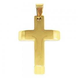 Σταυρός για τον άνδρα από ανοξείδωτο ατσάλι σε χρυσό χρώμα SP1248