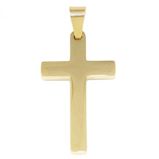 Σταυρός για τον άνδρα από ανοξείδωτο ατσάλι σε χρυσό χρώμα SP981