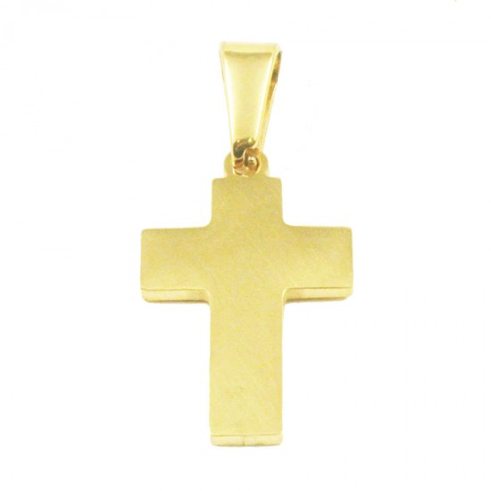Stainless steel Cross for men in gold color  SP1366