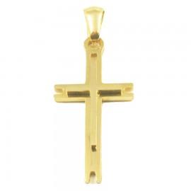 Σταυρός για τον άνδρα από ανοξείδωτο ατσάλι σε χρυσό χρώμα SP1241