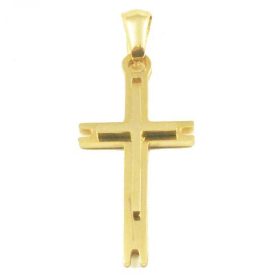 Stainless steel Cross for men in gold color  SP1241