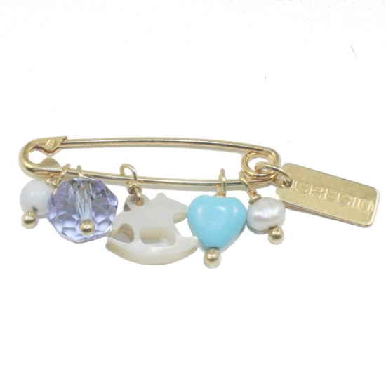 Children's nanny sterling silver goldplated and enamel elements