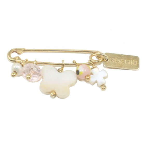 Children's nanny sterling silver gold plated and enamel items