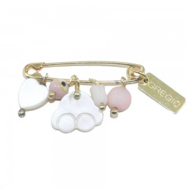 Children's nanny sterling silver gold plated and semiprecious stones