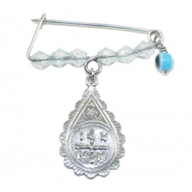 Children's nanny sterling silver platinum with colorful quartz for baptism 190927