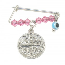 Children's nanny sterling silver platinum with colorful quartz for baptism 190923