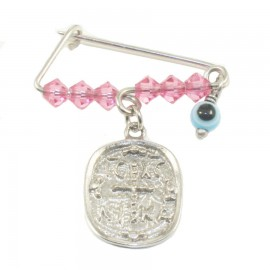 Children's nanny sterling silver platinum with colorful quartz for baptism 190921