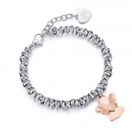 Bracelet with the angel in rose gold color made of stainless steel  BK1912