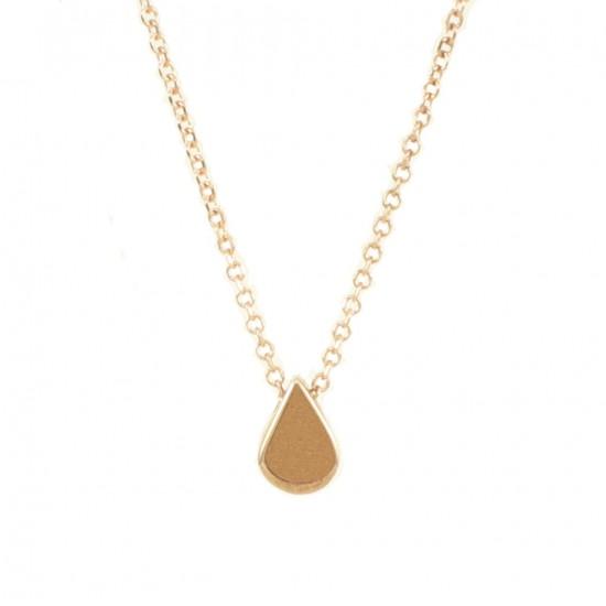 Necklace rose gold K9 with drop polished design 0913