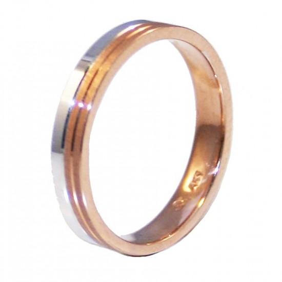Βέρες χρυσές Κ14 γάμου η αρραβώνα μονόχρωμες ή δίχρωμες σε μεγάλη ποικιλία με επιλογή χρώματος και ανατομικές