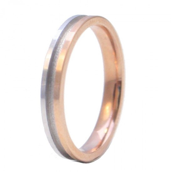 Wedding rings rose gold and engagement rings K14 monochrome two-color whistles in a wide selection with color choice and anatomi
