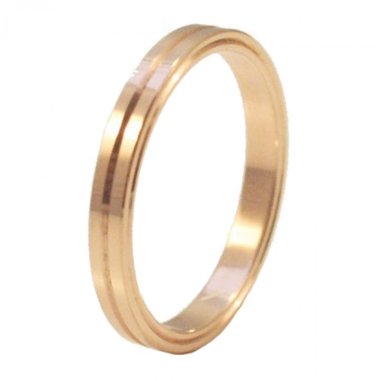 Rose gold wedding rings K14 wedding or engagement single color or two-color in a variety of colors and designs