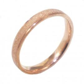Βέρα ροζ χρυσό Κ14 με σχέδιο ματ και λουστραριστή 275275