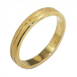 Βέρα χρυσή Κ14 με σχέδιο ματ και λουστραριστή 285285
