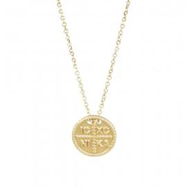 Κολιέ χρυσό Κ14 με Κωνσταντινάτο 1417.K
