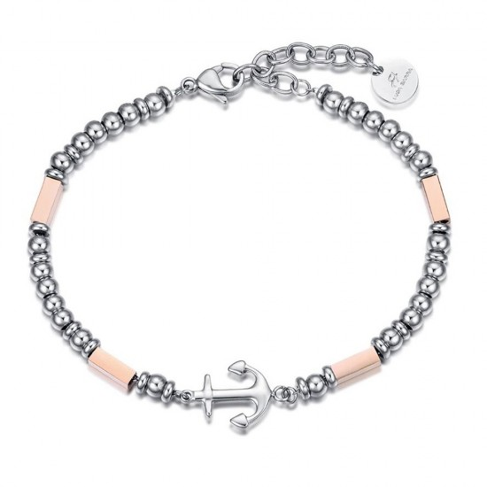 Handcuffs for men made of stainless steel with anchor design  BA1213