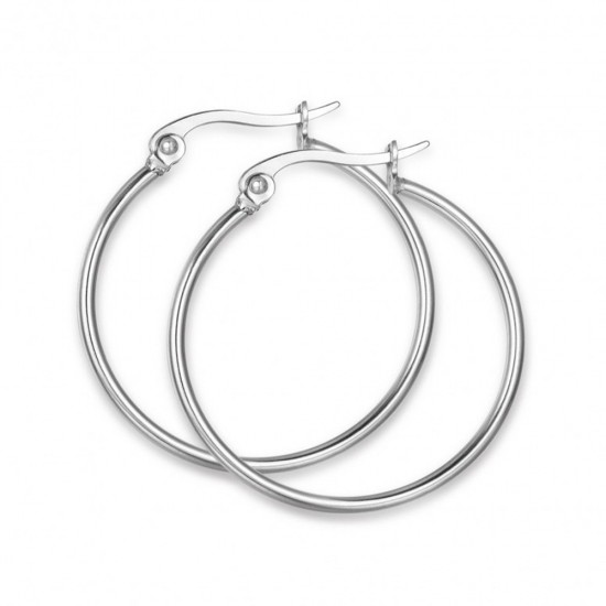 Earrings made of stainless steel in silver color  OK947