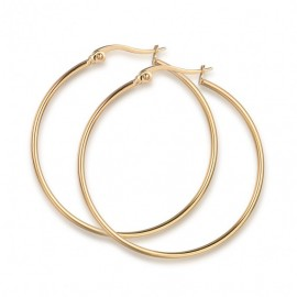 Earrings rings in gold color made of stainless steel  OK954