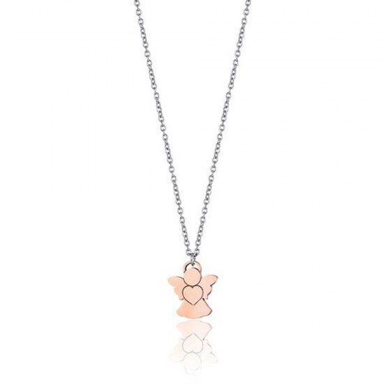 Necklace with the angel in rose gold color  CK1473