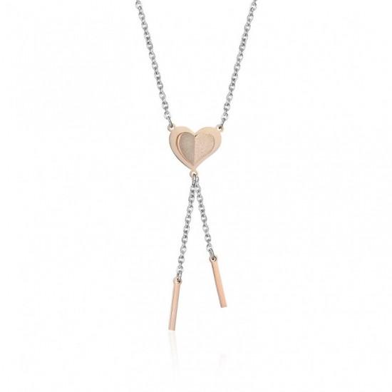 Κολιέ με καρδιά σε ροζ χρυσό χρώμα CK1387