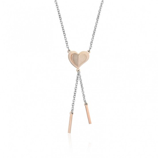 Necklace with heart in rose gold color  CK1387