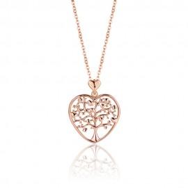 Κολιέ με καρδιά και το δένδρο της ζωής σε ροζ χρυσό χρώμα CK1265