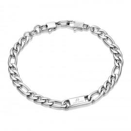 Handcuffs for men in silver color made of stainless steel  BA1033