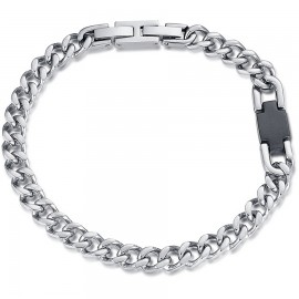 Handcuffs for men in silver color made of stainless steel  BA1166