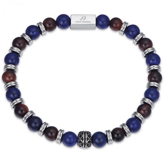 Men's stainless steel handcuffs and colored stones  BA1254
