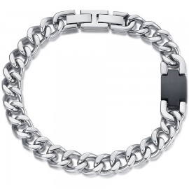 Handcuffs for men in silver color made of stainless steel  BA1167