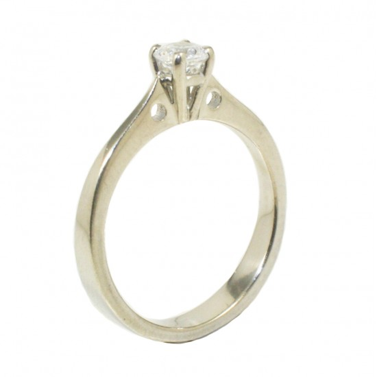 Δαχτυλίδι από ατόφιο ασήμι 925 μονόπετρο με λευκό ζιργκόν 267151