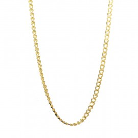 Men's neck chain in gold color made of stainless steel  SC262