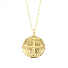 Sterling silver necklace gold plated with Constantine  314166